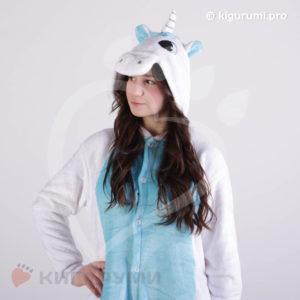 Кигуруми Бело-голубой Единорог