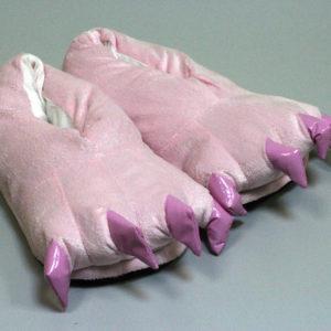 Кигуруми тапки-лапки розовые